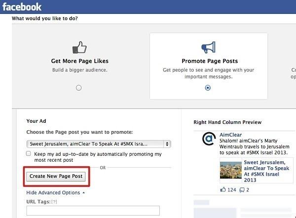 anuncios do facebook