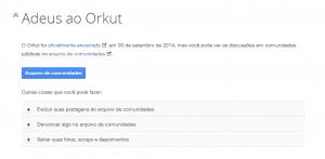 Fim do Orkut 2