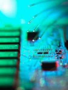 Fibre optics passing data to computer