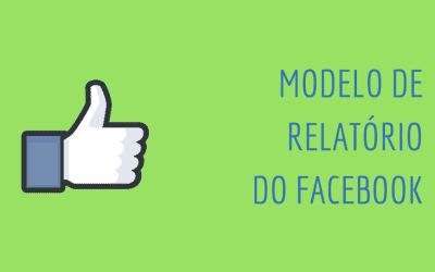 Relatórios de Facebook: modelo e template