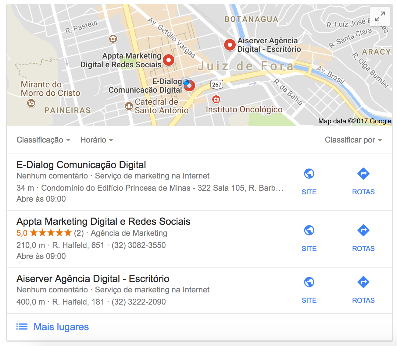 busca local por agência de marketing digital no Google