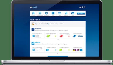 Plataforma OP Social para monitoramento