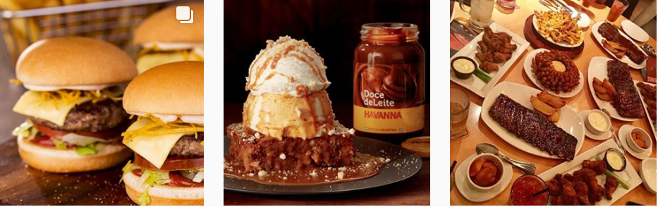 Captura de tela de parte do Instagram do Outback. Exemplo de marketing digital para restaurante