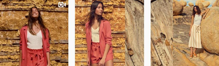 Captura de tela do Instagram da C&A Brasil. Campanha de marketing digital para moda com a coleção primavera-verão
