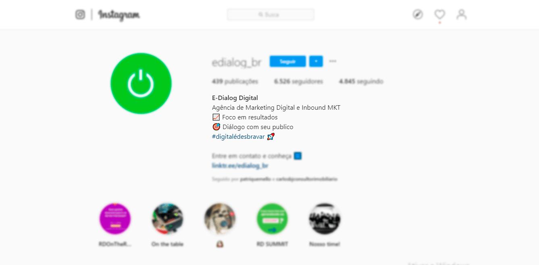 Instagram E-Dialog