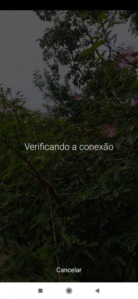 Como fazer live no Instagram, imagem do segundo passo: aguardar a rede verificar a conexão
