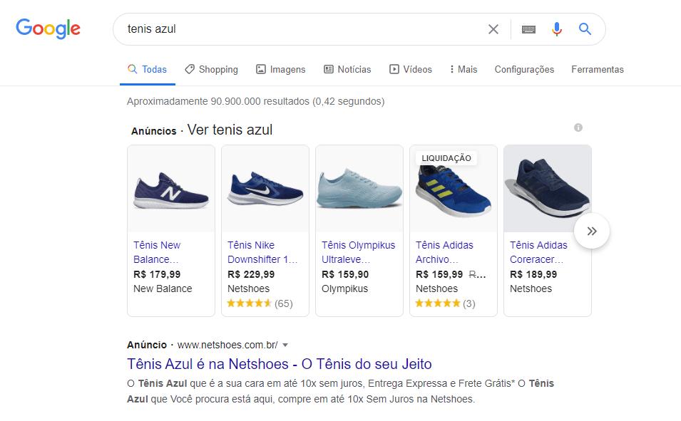 Como anunciar no Google Shopping? Visão dos produtos na SERP