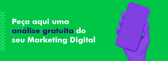 "Banner no artigo ""Funil de vendas"" para análise gratuita de marketing digital"